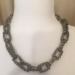 "J crew costume Rhine stone 19 "" link necklace"